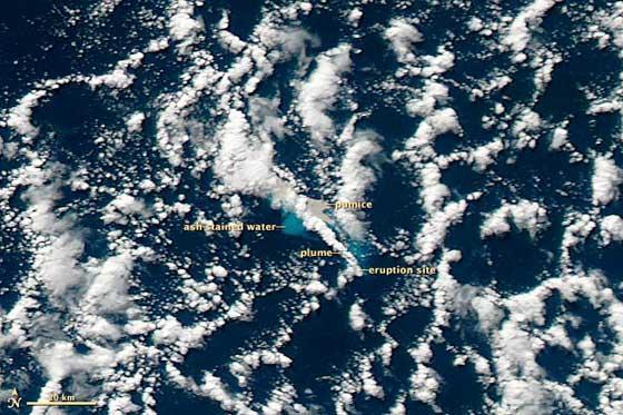 erupción del Havre Seamount