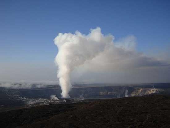 erupción del volcán Kilauea 2008