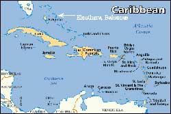 mapa de Bahamas-Caribe