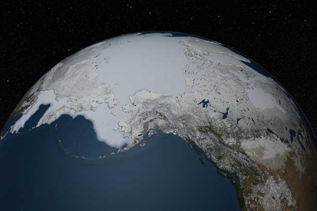 máximo anual de hielo marino del Ártico, febrero 2013
