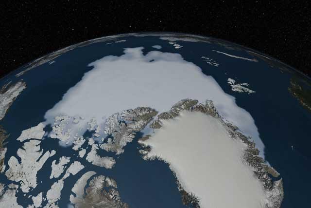 mínimo anual de hielo marino del Ártico, septiembre 2012