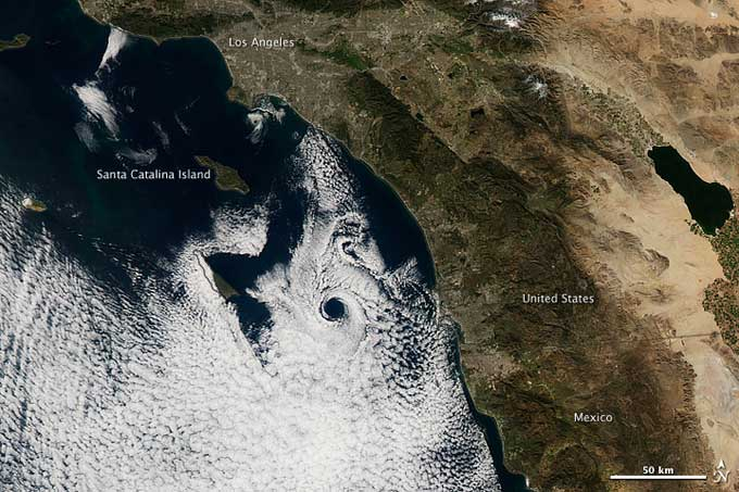 remolino Catalina frente a la costa sur de California