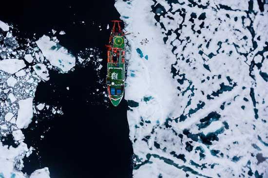 El RV Polarstern en el Ártico