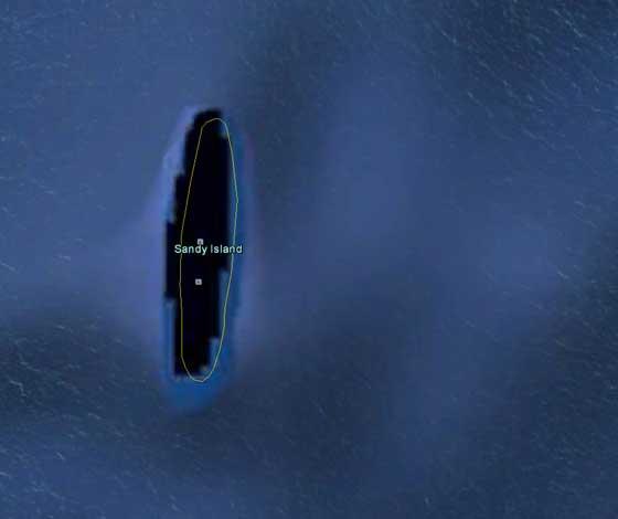 Sandy island en Google Earth