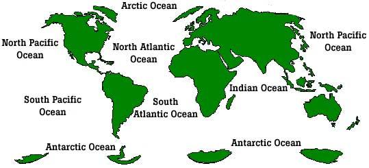 Los siete mares de la actualidad