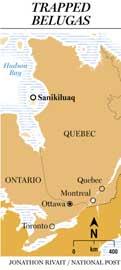 situación de Sanikiluaq, Canadá
