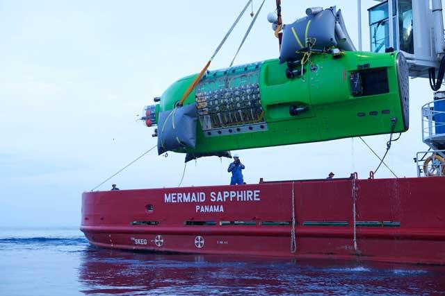 submarino Deepsea Challenge de James Cameron