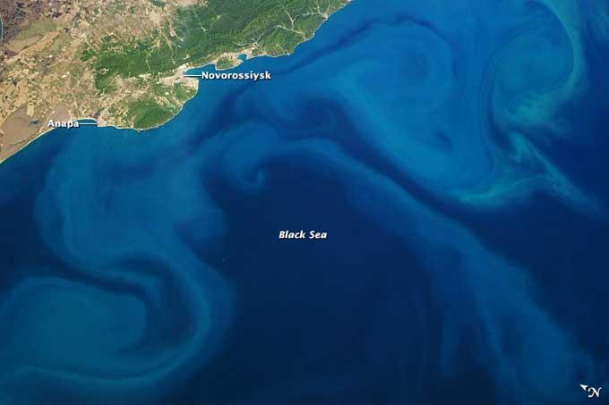 Bloom de fitoplancton en el Mar Negro, mayo de 2013