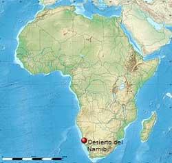 localizacion del desierto del Namib