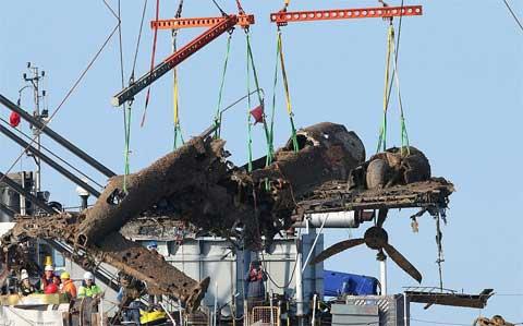 bombardero Dornier 17 rescatado del Canal Inglés