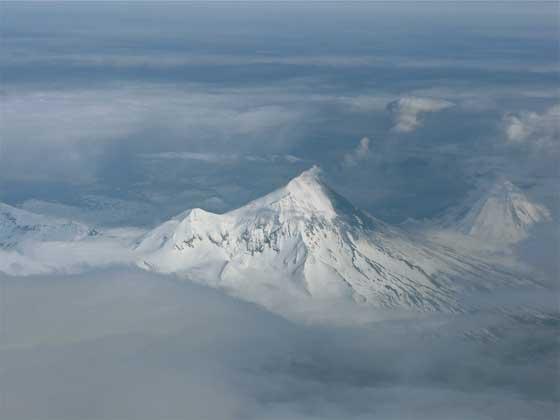erupción del volcán Pavlof, Alaska 22 de mayo de 2013