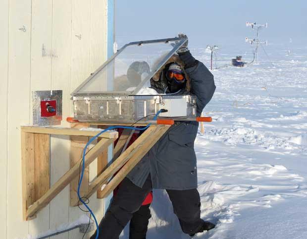 experimento sobre el hielo marino y la atmósfera del Ártico