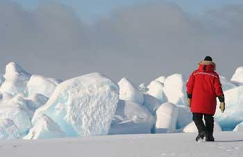 exploración del hielo marino del Ártico