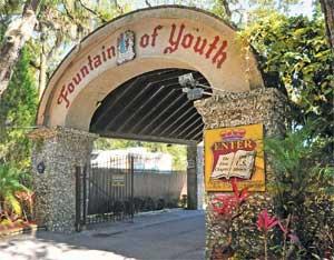 entrada a la Fuente de la Juventud en San Agustín, Florida