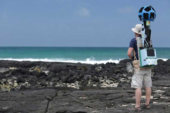 Google Trekker en Galapagos, Daniel Orellana