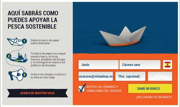 Greenpeace barcos de papel virtuales