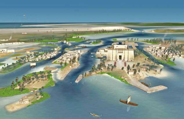 La ciudad de Heracleion en Egipto