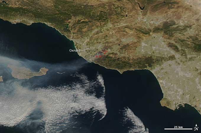 incendios en California desde satélite (Aqua)