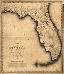 mapa antiguo de Florida