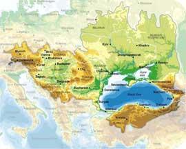 mapa geográfico del Mar Negro