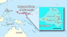 mapa de situació de Chuuk Lagoon o Truk Lagoon