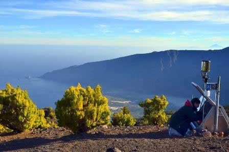 medición de gases en la isla de El Hierro