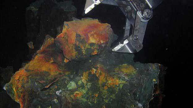 minería en el fondo marino