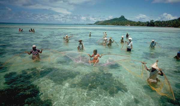pesca en Chuuk Lagoon