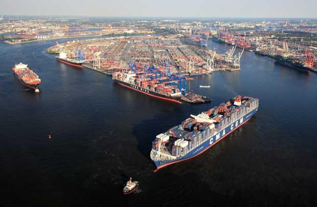 puerto de Hamburgo, Alemania