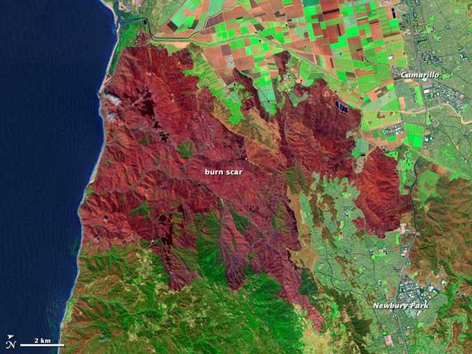 zona quemada por el fuego en los incendios de California 2013