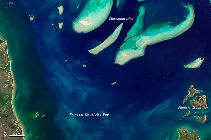 arrecifes de coral Princess Charlotte Bay, en Australia