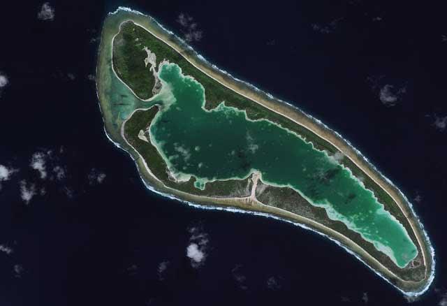 actual atolón de Nikumaroro lugar de desaparición de Amelia Earhart
