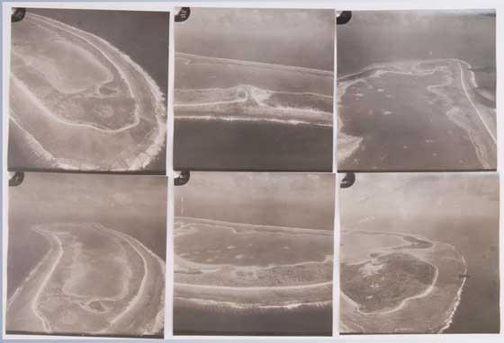 antiguas fotos de contacto del atolón de Nikumaroro, Amelia Earhart