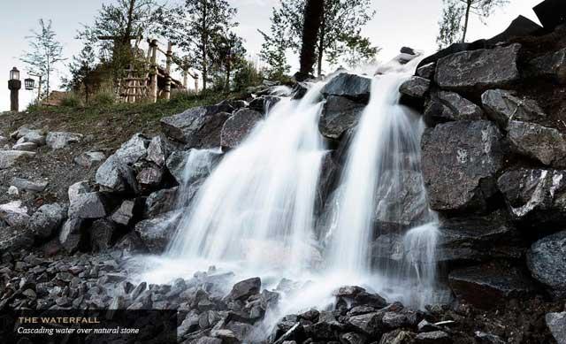 Challis Island, cascada