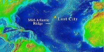 'Ciudad Perdida' del Atlántico, mapa de situación
