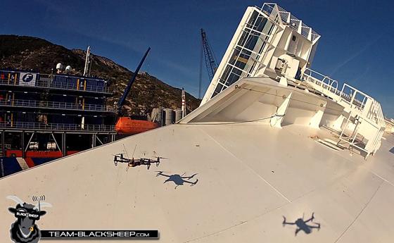 El Costa Concordia filmado por drones