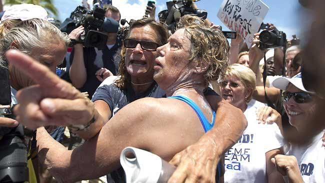 Diana Nyad tras cruzar a nado de Cuba a Florida
