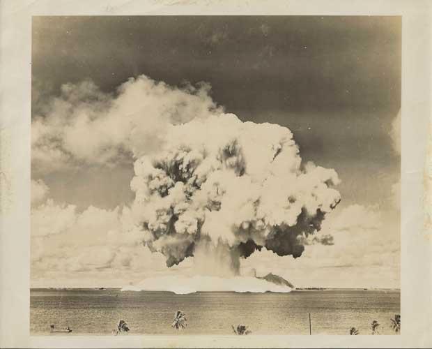 explosión nuclear en el Atolón Bikini