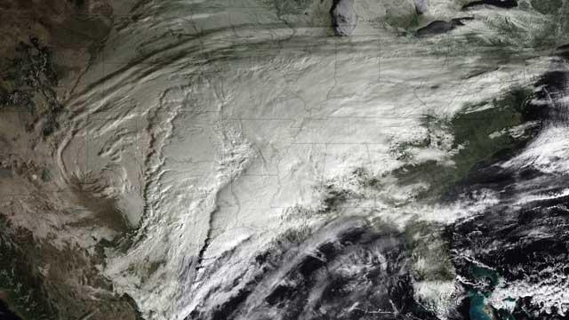 GOES, tormenta enero 2010