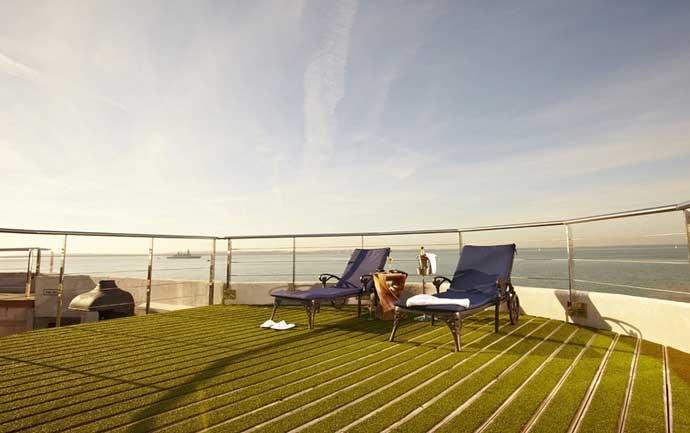 Hotel fortaleza Spitbank, terraza solarium
