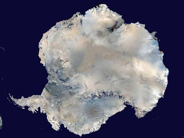 imagen de satélite de la Antártida