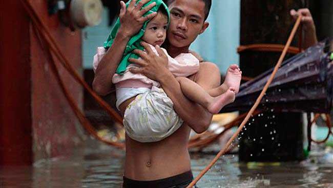 inundaciones en Filipinas por el tifón Trami