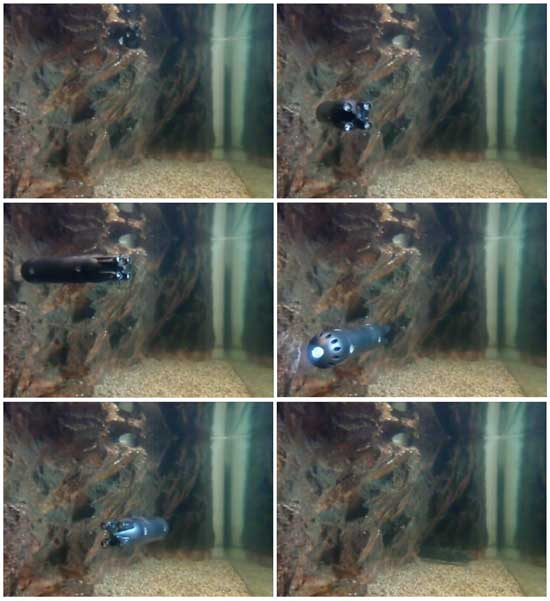 pruebas del mini-submarino DADU