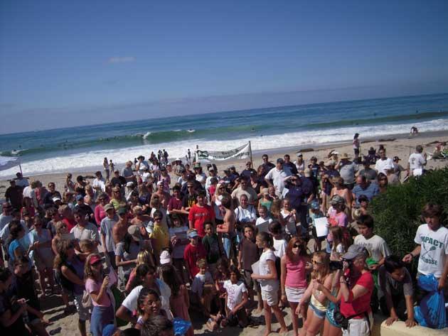 voluntarios de limpieza de playas