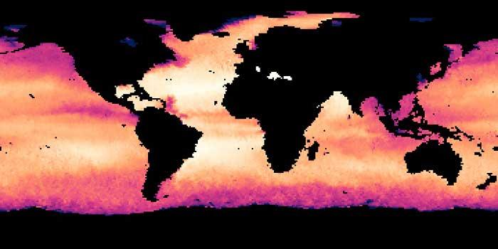 mapa de la salinidad de los océanos