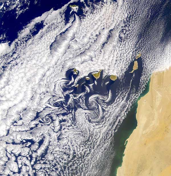 vórtices de von Kármán en las Islas Canarias