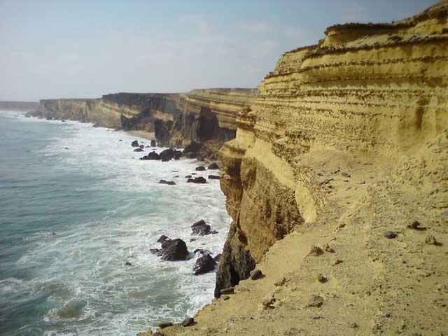 acantilados de la costa de Angola