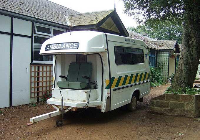 ambulancia en la Isla de Sark