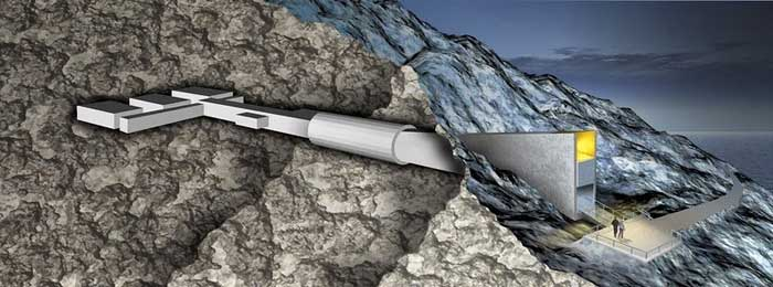 Bóveda Global de Semillas de Svalbard, esquema