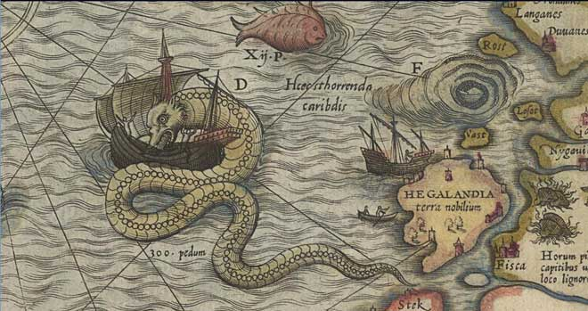 carta marina de Olaus Magnus